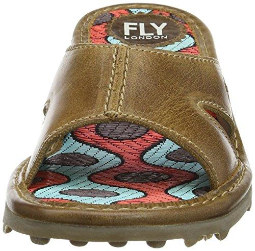 FLYA4 #Fly London Fly London P500740002, Zuecos Mujer Marrón (Camel 003)