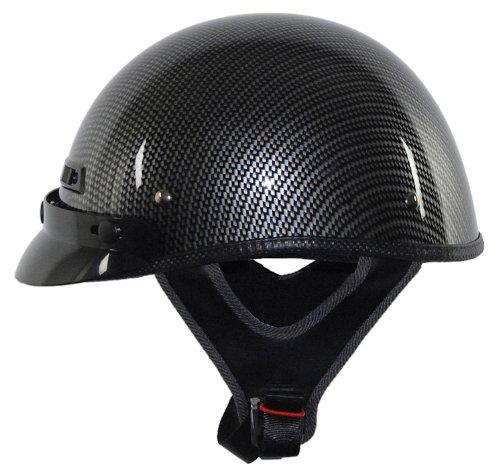 Vega XTS Half Helmet with Graphics  (Carbon Fiber, Medium)
