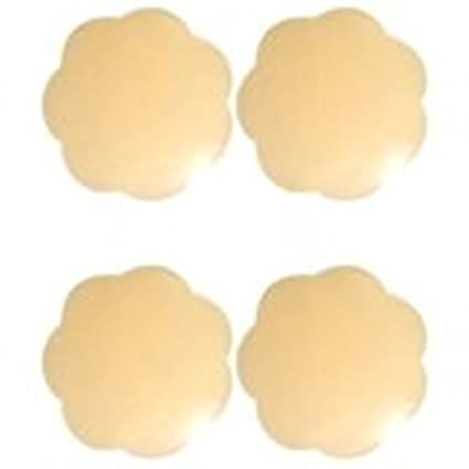 Hei Uk 1 Pair Nude Self Adhesive Flower Breast Petals