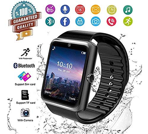 MyTECH GT Smart Watch, Bluetooth Smartwatch Touch Screen Wrist Watch with Camera SIM Card Slot