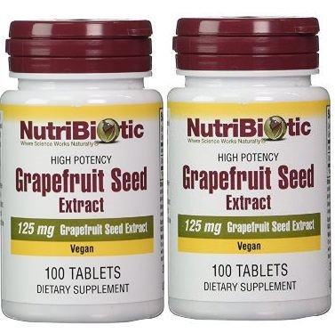 Tablets Extract (Nutribiotic Gse Tablets, 125 mg, 100 Count (200 Count))