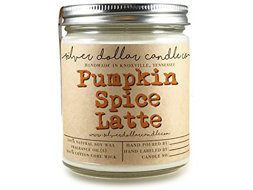 Pumpkin Spice Latte Candle 8oz Scented Soy | Hand poured 100% Soy Wax Made in Tennessee, USA (Kitchen Cottage Ideas)