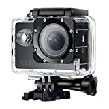 ELE Elephone Explorer Sport Action Camera WiFi 16MP 4K 1080P 2.0 inch LCD Screen 170° Wide Lens Waterproof Sports Video Camera DV Cam Camcorder with Accessories Kit for Bicycle Diving Swimming, Black