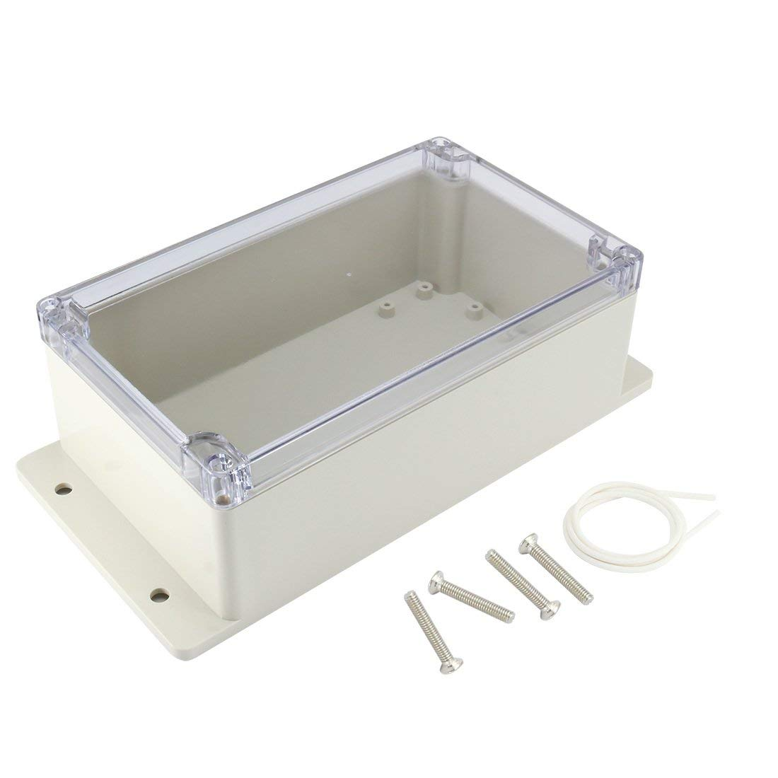 ABS Junction Box Universal Project Enclosure w PC Transparent Cover 200mmx120mmx75mm sourcingmap 7.9x4.7x2.94