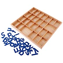 MonkeyJack Montessori Wooden Movable Alphabet a-z with Box for Kids Table Play Toy Gift
