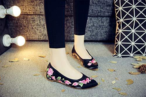 De chaussures Chinois Chaussures Oxford Mariage Talons Black Espadrilles Mariée Brodées Style Hauts C6qwtt4a