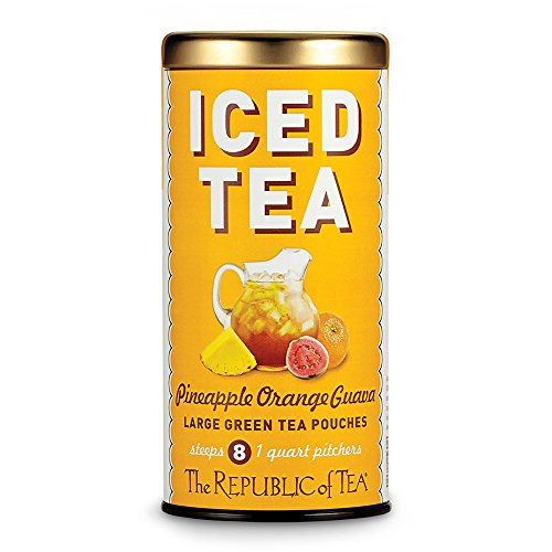 (Republic Of Tea, Tea Iced Pouches Pineapple Orange Guava Green, 8 Count)