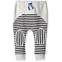 Rosie Pope Little Boys Contrast Sweatpants, Heather Gray, 24 Months