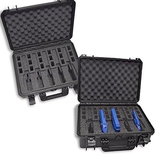 DORO Cases Waterproof Heavy Duty Gun Case, 5 Pistol custom foam insert by MyCaseBuilder by DORO Cases