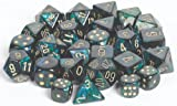 Chessex Dice d6 Sets: Scarab Jade with Gold