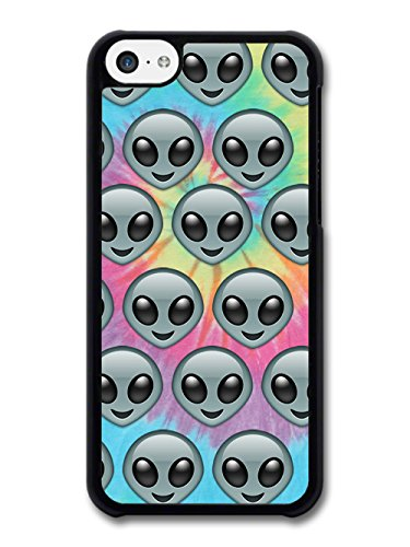 Cool Retro Pop Grunge Hipster Aliens on Tie-Dye Pattern case for iPhone 5C