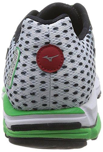 Mizuno Wave Rider 18 - Zapatos para hombre - Black/Silver/Classic green