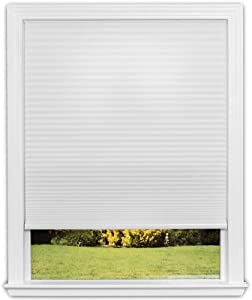 Easy Lift Trim-at-Home Cordless Cellular Light Filtering Fabric Shade White, 48 in x 64 in, (Fits windows 31