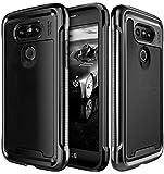 LG G5 Case, E LV LG G5 - Hybrid [Scratch/Dust Proof] Armor Defender Slim Shock-Absorption Bumper Case for LG G5 - [BLACK/BLACK]