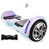 Mars One AlienBoard UL2272 Certified Hoverboard BatWings with Bluetooth and LED Lights (Cotton Candy)