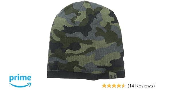 510a631f071081 Amazon.com: Under Armour Men's 2-Way Camo Beanie, Rough (334)/Artillery  Green, One Size: Clothing