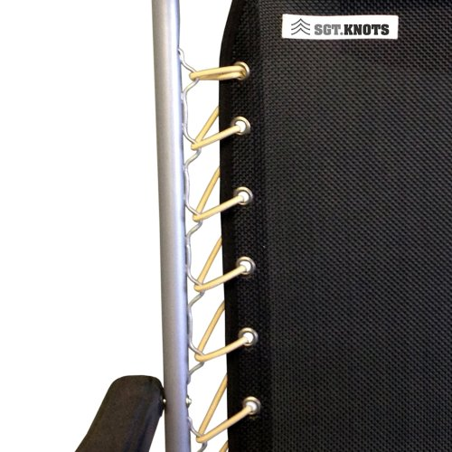 Chair Lace Replacement Kit - SGT KNOTS - Zero Gravity Universal Chair Lace - Ultra-Premium Nylon Bungee Cord - Stretch and Shock Absorption - Weather, Moisture, & Abrasion Resistant (Tan) (Outdoor Parts Replacement Furniture)