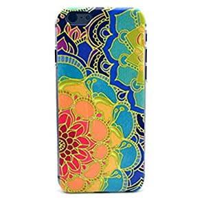 iPhone 5 Case, iPhone 5s Case - LUOLNH Fashion Style Colorful Painted Colorful Flower Clear Bumper Hard Case Back Cover Protector Skin For Iphone 5 5s (Colorful Flower)
