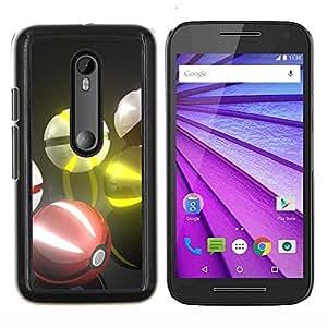 Stuss Case / Funda Carcasa protectora - Pokebolas - Motorola MOTO G3 / Moto G (3nd Generation)