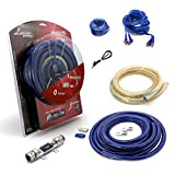 Car Amplifier Wiring Kit - 1/0 Gauge Complete Amp Kit Amplifier Installation Wiring Wire Kit, Higher Performance,Includes Power, Ground, Remote Cable, Fuse Holder - Lanzar PROKIT0