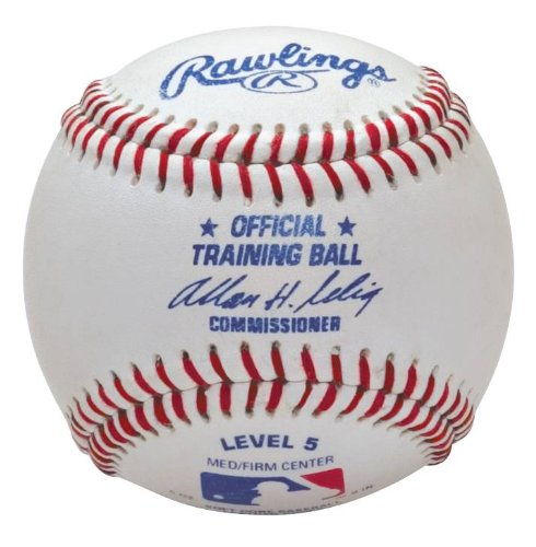 - Rawlings Official Training Baseball, Soft Center Level 5, 12 Count, (ages 7-10)