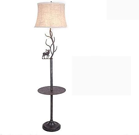 JUEJIDP Lámpara de pie de Mesa de café lámpara de Mesa Vertical ...
