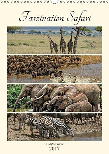Faszination Safari. Wildlife in Kenia (Wandkalender 2017 DIN A3 hoch): Wer träumt nicht von einer Safari ? Wildlife hautnah miterleben. Kommen Sie mit ... (Monatskalender, 14 Seiten ) (CALVENDO Tiere)