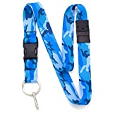 Best Landyards - Buttonsmith Blue Camo Premium Breakaway Lanyard with Buckle Review