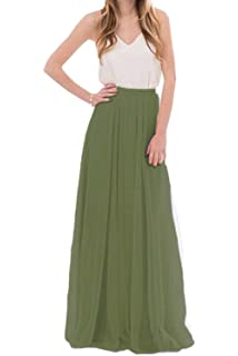 980847014c Uswear Women Wedding Long Tulle Skirt Dress Bridal Bridesmaids Floor Length  High Waisted Maxi Tutu Party