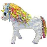 Aztec Imports Unicorn Pinata with Rainbow Mane, White