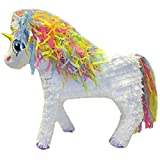 Aztec Imports Unicorn Pinata with Rainbow Mane, White