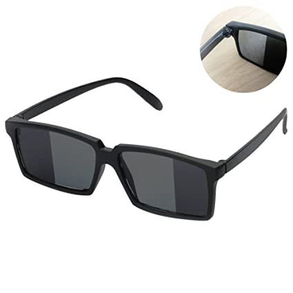 8bc2123ee7fec Amazon.com  To See Behind Spy Sunglasses – Novelty Shades with Mirror on Side  Ends of Lens
