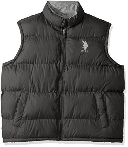 U.S. Polo Assn. Men's Basic Puffer Vest, Dark Shadow 5601, 3X