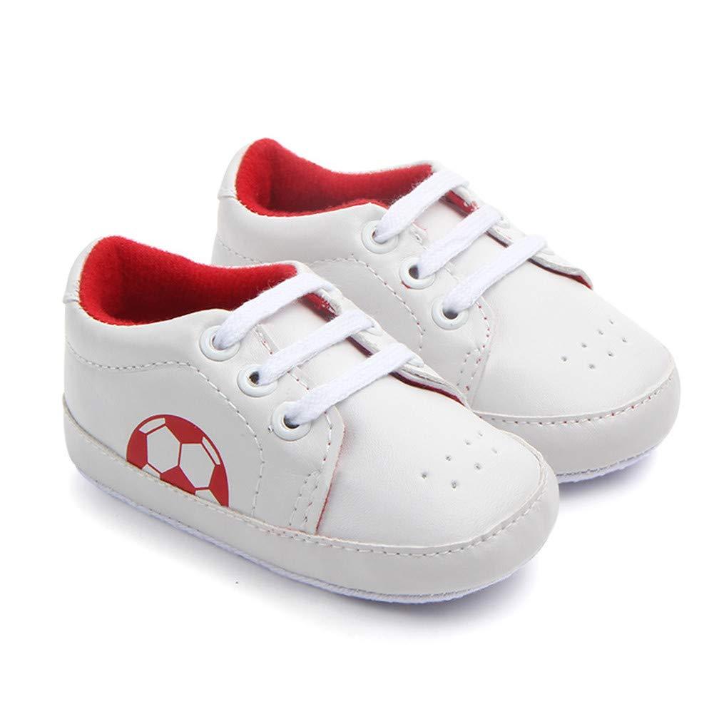 UWESPRING Cute Baby Boys Girls Sneaker Anti-Slip Football Soft Sole with Socks