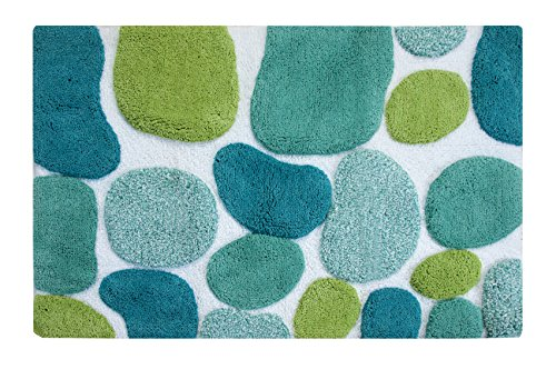 "picture of Chesapeake Merchandising Pebbles Bright Bath Runner, 24 by 36"", Pool Blue"