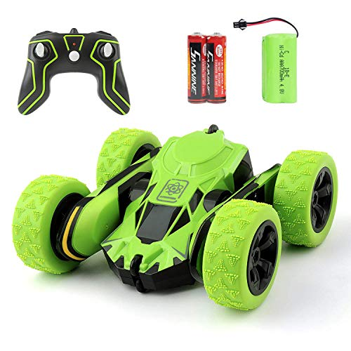 Colorsky RC Car Remote Control Stunt Car 4WD 2.4GHz High Speed Racing Toy Double Sided Vehicle 360 Degree Rolling Rotating Rotation