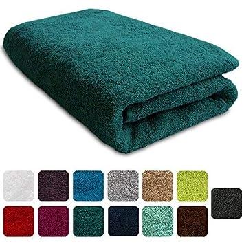 Lanudo®, telo doccia di lusso 600g/m², Pure Line 70x 140 cm, con bordature,asciugamano da doccia in 100% spugna di cotone di altissima qualità, 100% cotone, argento, 70 x 140 cm 100% cotone