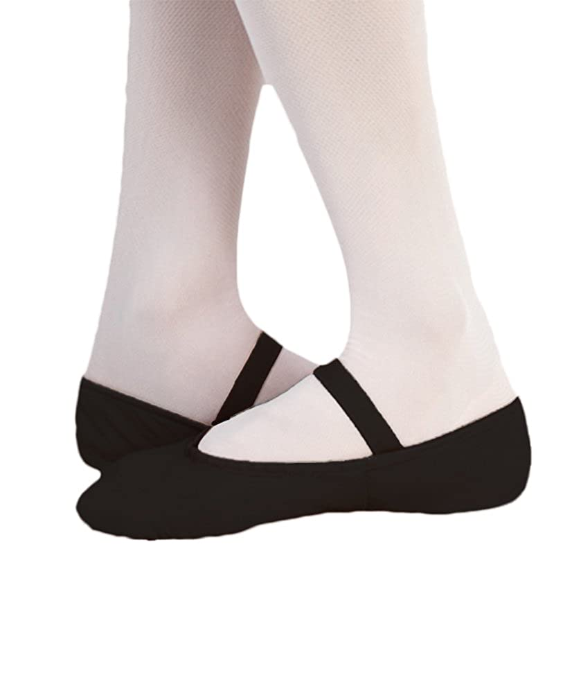 Body Wrappers Womens Tiler Full Sole Leather Pleated Ballet Slipper 201A
