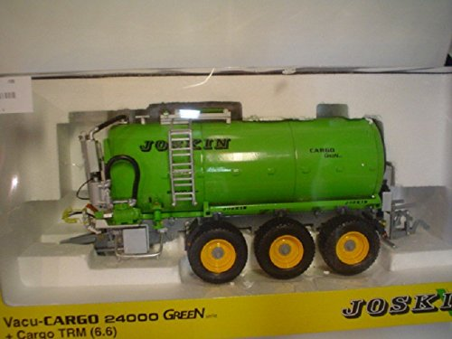 Joskin Vacu-Cargo 24000 3 axle Liquid Manure Tank trailer in Green , This Tri-Axle Slurry Tanker is highly detailed and the perfect implement for your ROS-Agritec 1/32 scale Tractors , Joskin is