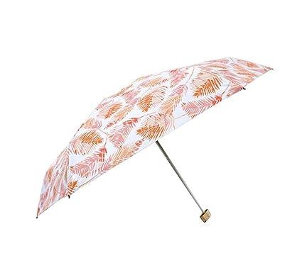 Paraguas de Viaje Ligero para Mujer Paraguas de Bolsillo para Paraguas Plegable Paraguas Anti-UV