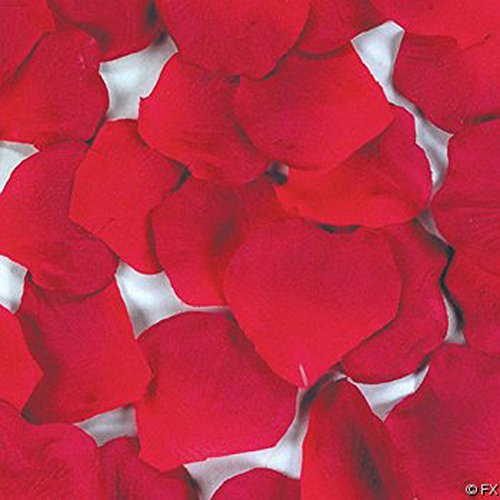 1Pack(100Pcs) Red Rose Petals Artificial Multi--functional Flowers Decorations, Wedding Party/Vase/Home Decor/Bridal Rose Flower Petals Favors Decoration