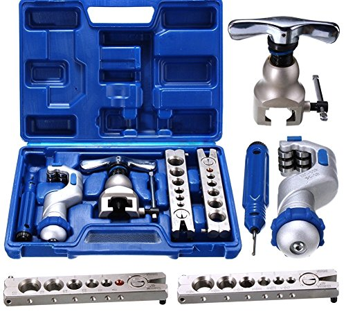 R410A Eccentric Flare Tool Kit for Water Gas Refrigeration Brake Line + Pipe Cutter