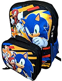 Sonic the Hedgehog Need For Speed 16 Inch Backpack with Insulated Lunch Box