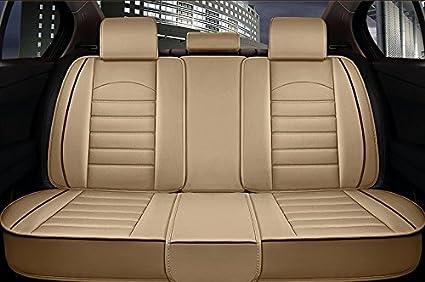 ANKIV FULL SET Universal Fit 5 Seats Car Sedan Suv Seat Covers Protectors Waterproof Pu Leather Auto Seat Cushions