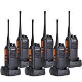 Walkie Talkies 5W Ham Radio Long Range Olywiz-813 Two Way Radios 1400MAH Rechargeable Li-ion Battery IP 54 Protection for Camping 6 Pack
