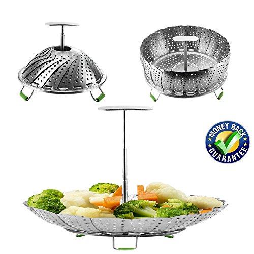 Instant Pot Vegetable Steamer Basket for 6, 8 Quart, Instant Pot Accessories, Stainless Steel Steamer Food, Veggie Steamer Insert for Pressure Cooker, Compatible Steamer Basket Accessories ()