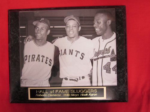 Roberto Clemente Hank Aaron Willie Mays Collector Plaque w/8x10 All Star Photo (Sports Photographs)