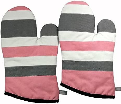 Círculo rosado] a prueba de calor guantes Micro-Horno/manoplas de ...