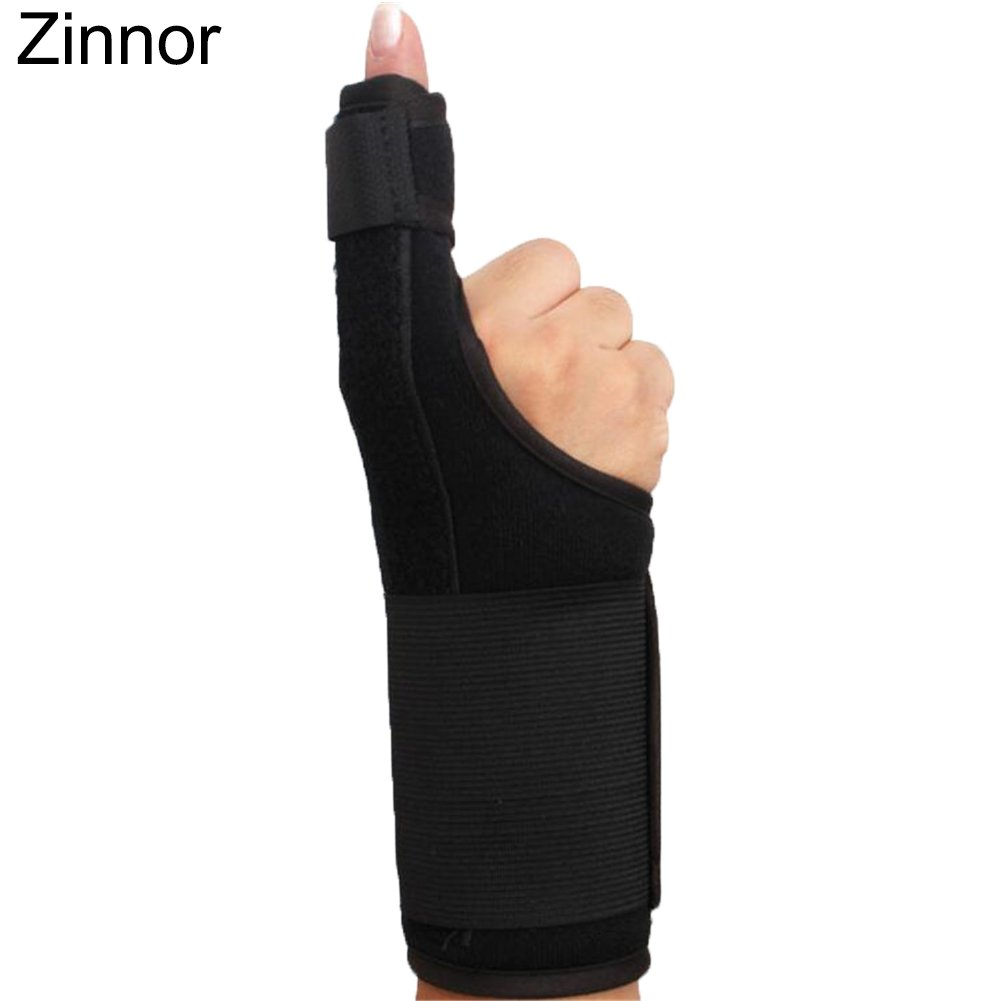 Zinnor Adjustable Finger Splint Support Brace- Finger Extension Hand Splint Medical Enhanced-Protective Immobilizer Cast with Wrist Wrap for Middle, Ring, Index or Pinky Finger-Thumb Fixed Breathable