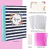 LotFancy Recipe Binder, with 60 Blank Recipe